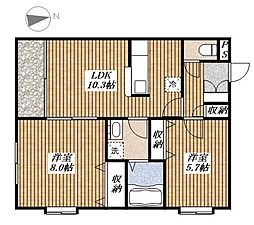 プリマラーラ[1階]の間取り
