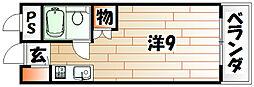 福岡県北九州市門司区栄町の賃貸アパートの間取り