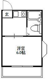 第3・4平野マンション[3-302号室]の間取り