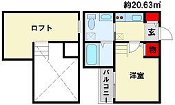 RideII(ライドツー)[2階]の間取り