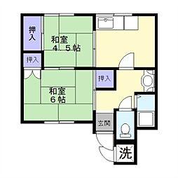 伊藤アパート[1階]の間取り