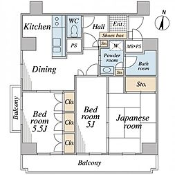 ライオンズマンション元町[6階]の間取り