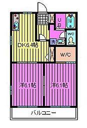 埼玉県さいたま市桜区田島9丁目の賃貸アパートの間取り