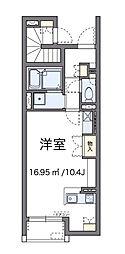 神奈川県相模原市中央区陽光台4丁目の賃貸アパートの間取り