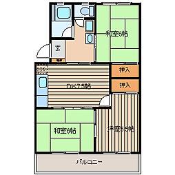 メゾン鹿島I[201号室]の間取り