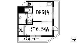 兵庫県西宮市松籟荘の賃貸マンションの間取り