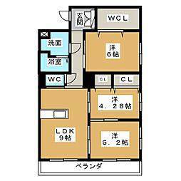 プレステージ ジン[3階]の間取り