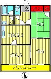 コーポナルシマ[102号室]の間取り