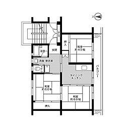 ビレッジハウス小羽山第二[1-208号室]の間取り