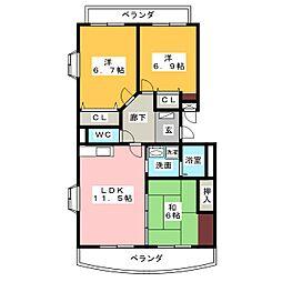 千寿MSA[3階]の間取り