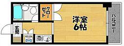 ラ・テール西田弐番館[3階]の間取り