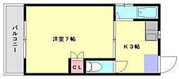 インペリア井尻[2階]の間取り