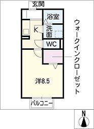 オリーブガーデン[2階]の間取り