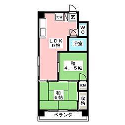 メゾン大塚 6階2LDKの間取り