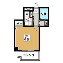 第10和興ビル[4階]の間取り