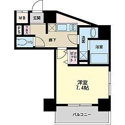 パシフィックレジデンス神戸八幡通[0407号室]の間取り