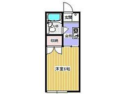 コーポ七生[1階]の間取り