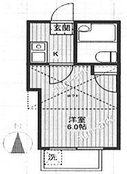 東京都板橋区成増1の賃貸アパートの間取り