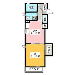 カンタービレ[2階]の間取り