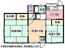 [一戸建] 長野県飯田市上郷飯沼 の賃貸【/】の間取り