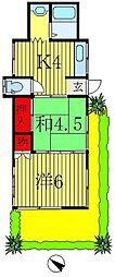 [一戸建] 千葉県松戸市岩瀬 の賃貸【/】の間取り