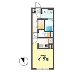 愛知県名古屋市西区城西1の賃貸マンションの間取り
