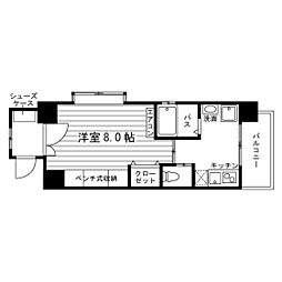 愛知県名古屋市天白区荒池1丁目の賃貸マンションの間取り