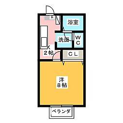 メゾン・ド・ブラン[2階]の間取り