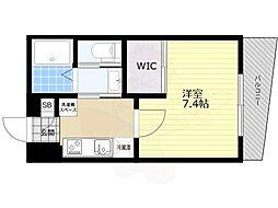 京王井の頭線 井の頭公園駅 徒歩8分の賃貸マンション 1階1Kの間取り