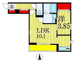 CASA MIA 1階1LDKの間取り