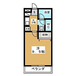 サニーフォレスト[3階]の間取り