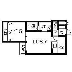 デルフィーノ麻生II[2階]の間取り