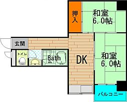菊川マンション[5階]の間取り