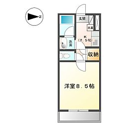 シーサイドマンションII[407号室]の間取り