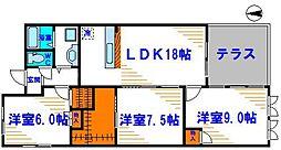 ロイヤルメゾン上野西[4階]の間取り
