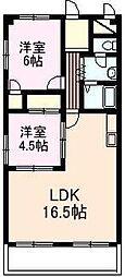 KNグランドハイツ[2階]の間取り