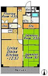 フジマンション第1[2階]の間取り