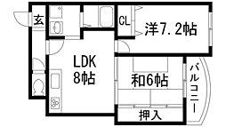 アセオマンション[3階]の間取り