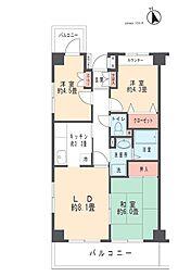 クリサンセマム藤田 3階3LDKの間取り
