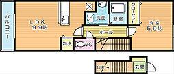 Sone Apartment C[202号室]の間取り