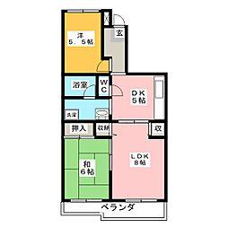 ライジングサン[2階]の間取り