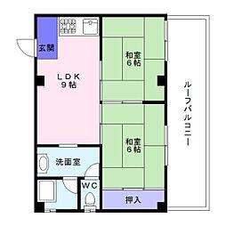 カツタビルディング1号館[5階]の間取り