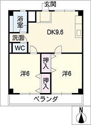 津IN COURT練木サウスコート[4階]の間取り