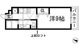 兵庫県宝塚市清荒神2丁目の賃貸アパートの間取り