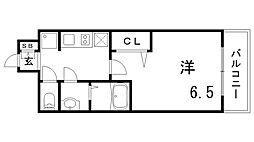 プレサンスTHE神戸[5階]の間取り