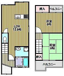 [一戸建] 大阪府大阪狭山市半田5丁目 の賃貸【/】の間取り