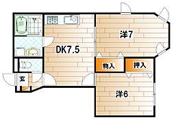 サンルーム 和[1階]の間取り