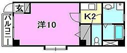 フォブール三笠II[102 号室号室]の間取り