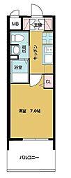 TOYOTOMI STAY PREMIUM ABENO天王寺 3階1Kの間取り