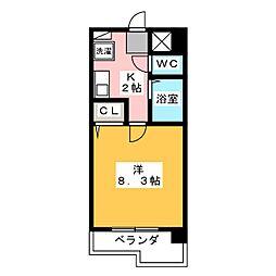 ハイツAMI[3階]の間取り
